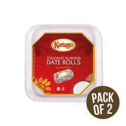 coconut almond date rolls